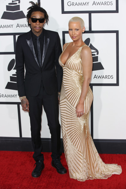 Wiz Khalifa and Amber Rose at the Grammys