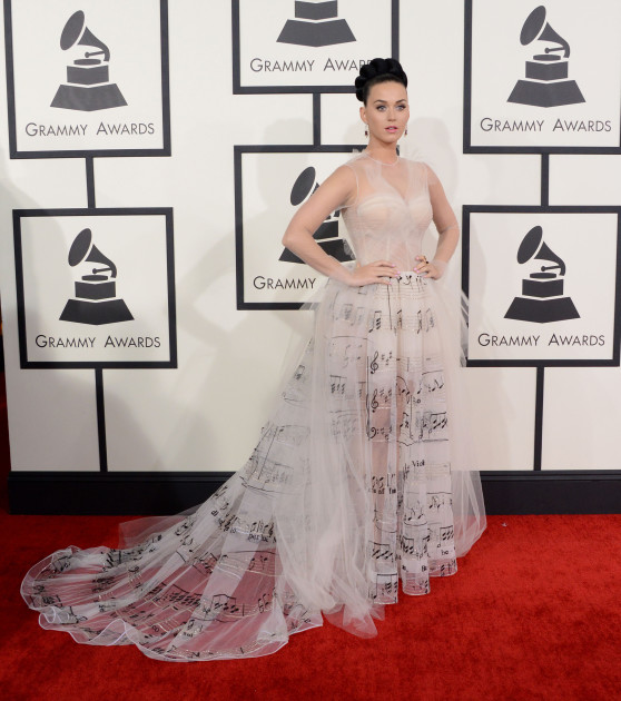 Katy Perry at the 2014 Grammys