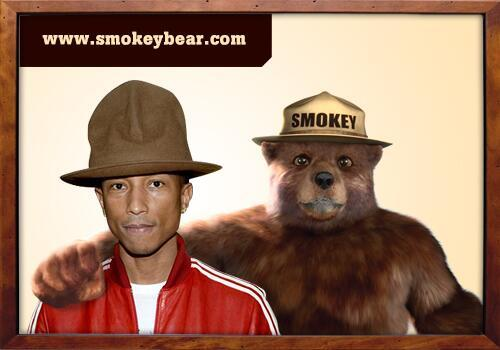 Pharrell and Smokey Bear