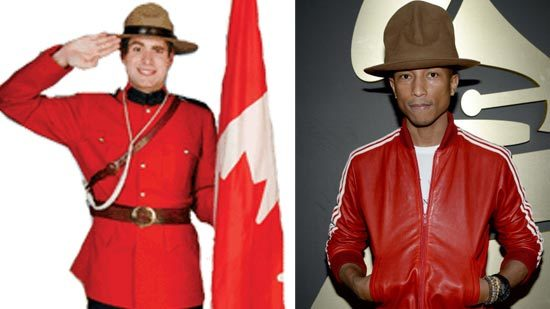 Pharrell and the Royal Canadian Mounted Police