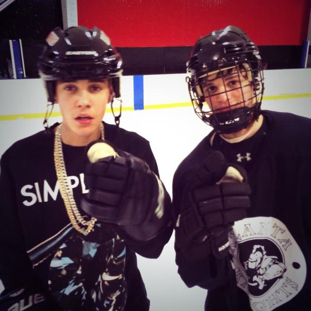 Justin Bieber on the Ice