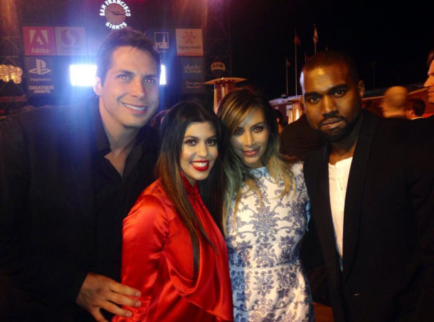 Kimye Engagement Party Pic