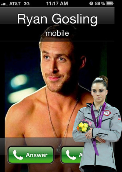 McKayla Maroney and Ryan Gosling