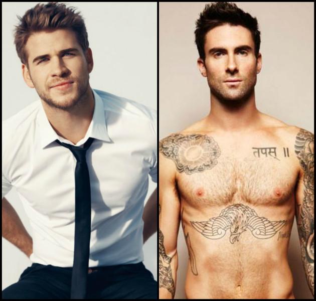Liam Hemsworth & Adam Levine (Tie)