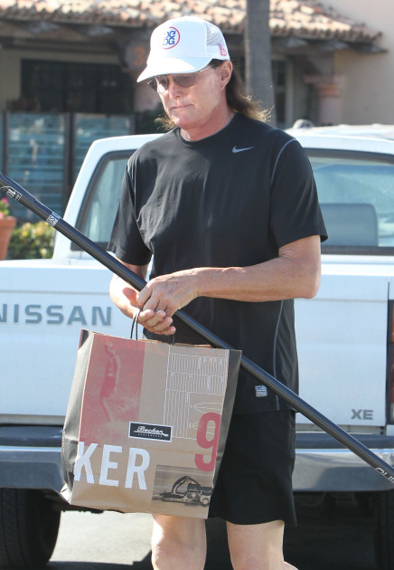 Bruce Jenner Goes Shopping