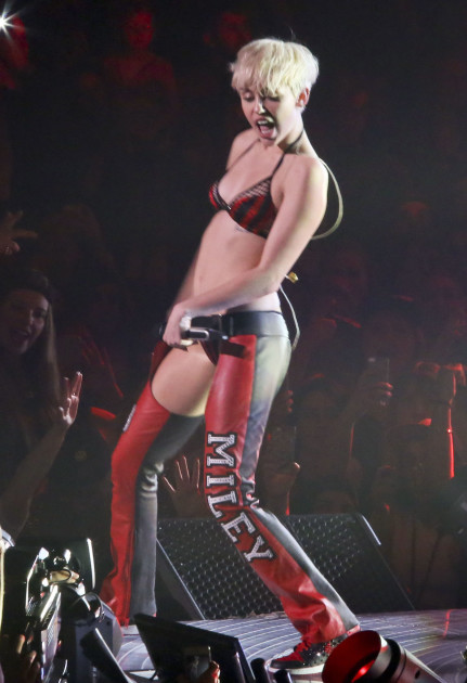 Miley Cyrus Wearing Miley Pants