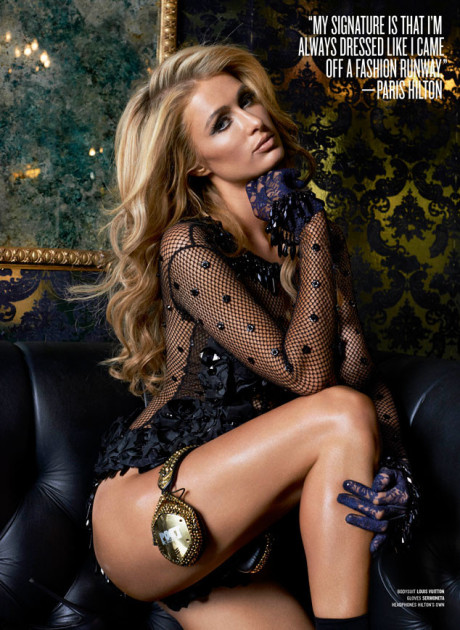 Paris Hilton for V