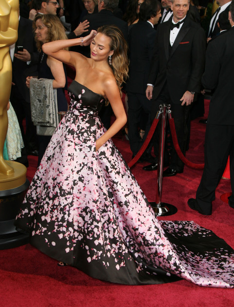 Chrissy Teigen at the Oscars