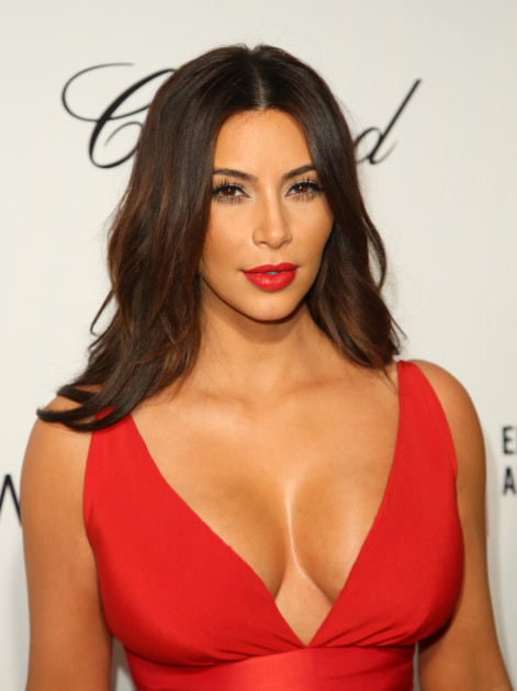 Kim Kardashian, Large Breasts at Oscars Party