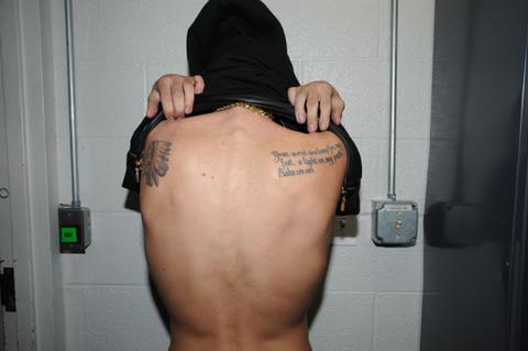 Justin Bieber Back Tattoos