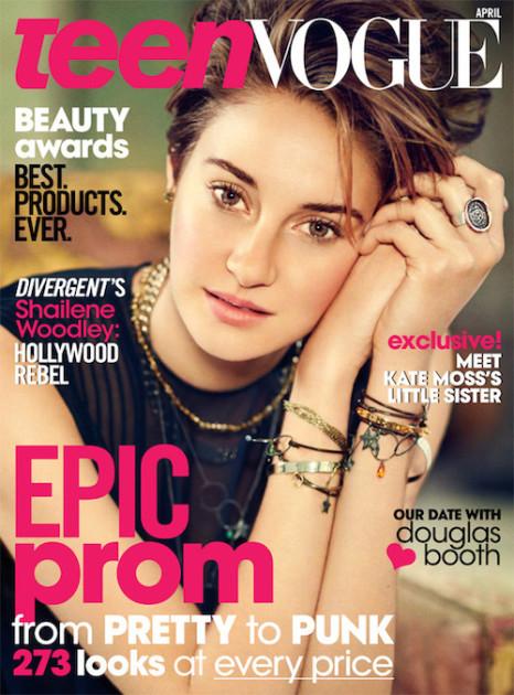 Shailene Woodley Teen Vogue Cover