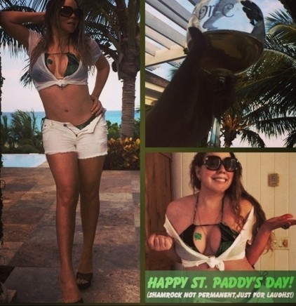 Mariah Carey Sends St. Patrick's Day Message