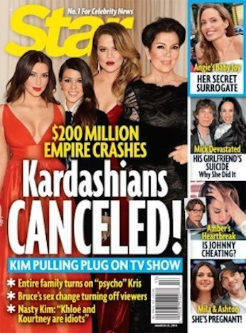 Keeping Up with the Kardashians Tabloid Cover