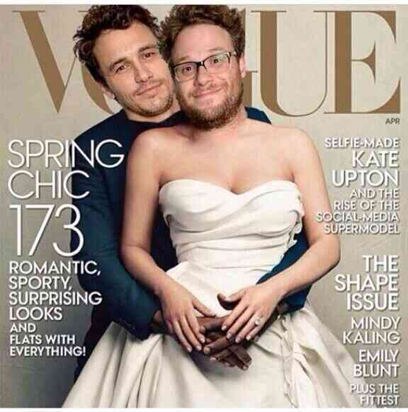 James Franco and Seth Rogen Vogue Cover Spoof