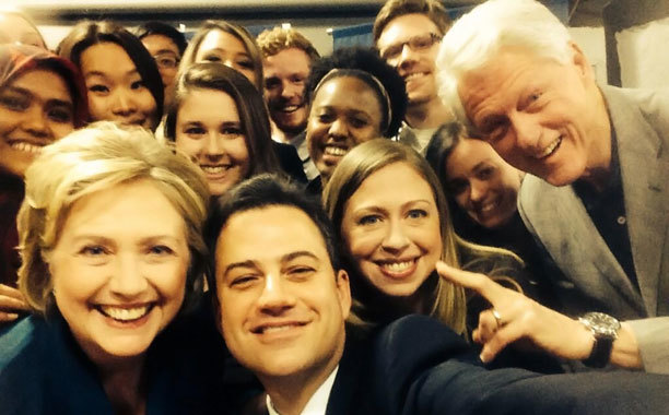 Jimmy Kimmel and Clintons