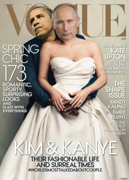 Barack Obama and Vladimir Putin Vogue Cover