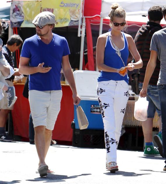 Toni Garnn and Leonardo DiCaprio