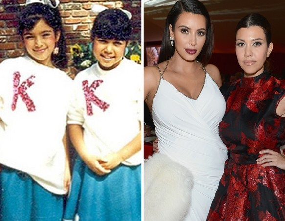 Kim and Kourtney as Kids