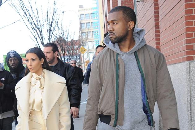 Kanye with Kim Kardashian