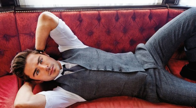 Zac Efron on the Couch