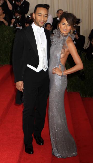 Chrissy Teigen and John Legend at the MET Gala