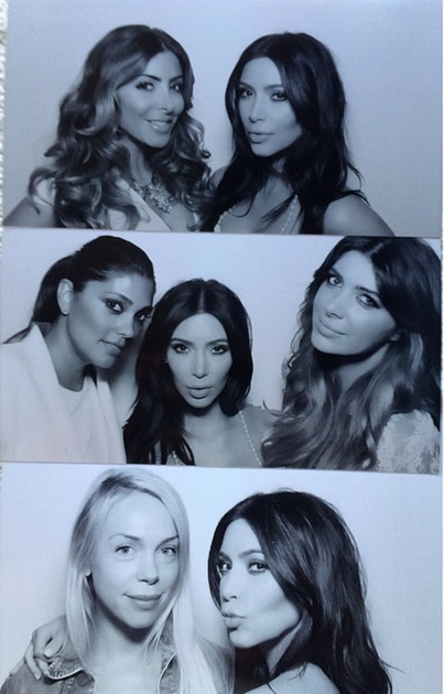 Kim Kardashian at Her Bridal Shower