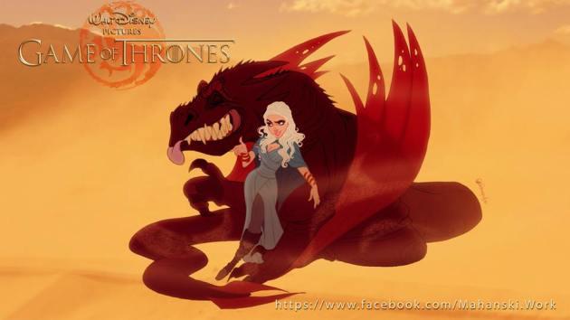 Daenerys Targaryen Disney Style