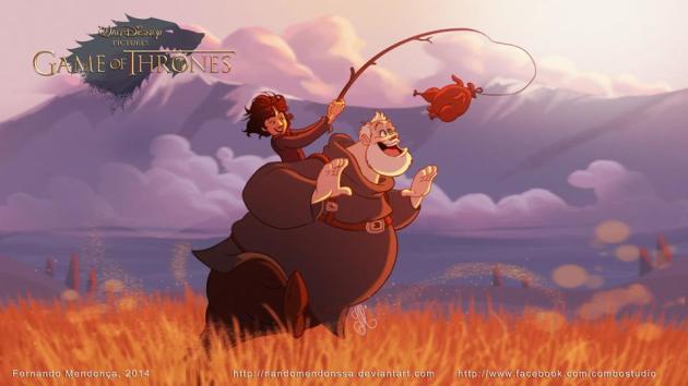 Bran and Hodor Disney Style