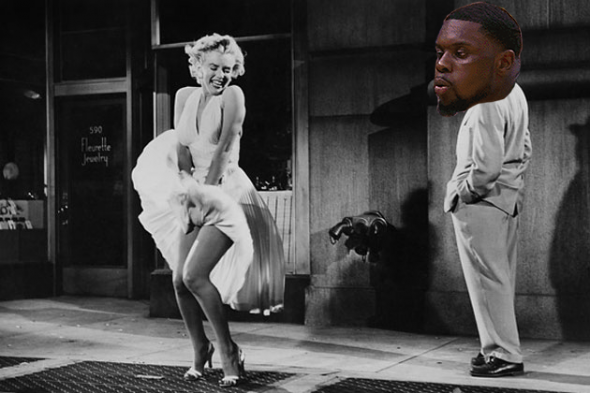 Lance Stephenson Blows on Marilyn Monroe