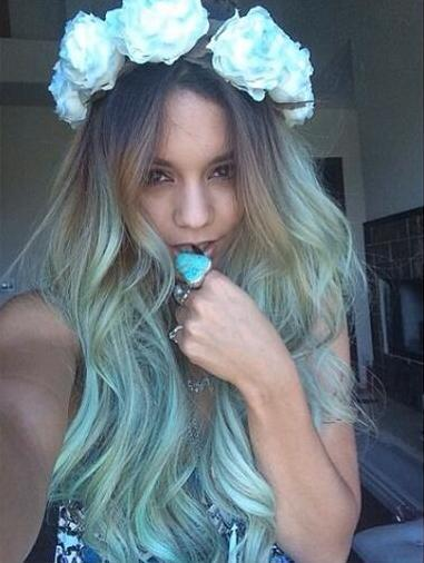 Vanessa Hudgens Blue Hair