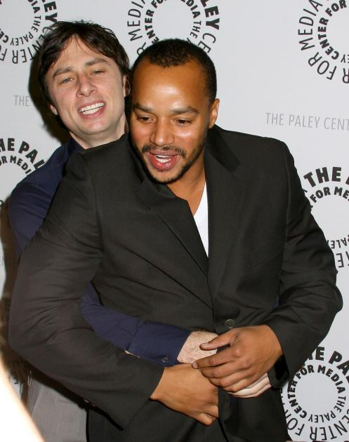 Zach Braff and Donald Faison
