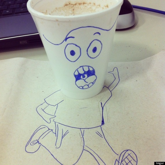Coffee Cup Man