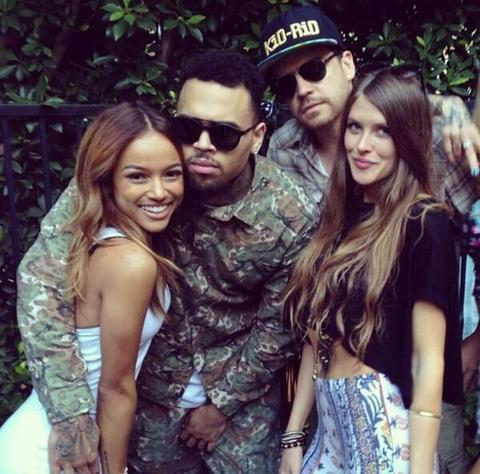 Chris Brown, Karrueche and Friends