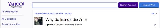 Especially Lizards