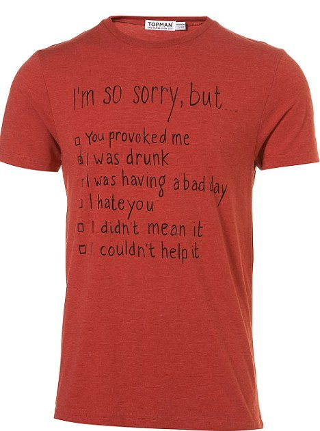 Topman Domestic Violence Shirt