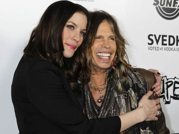 Liv Tyler and Steven Tyler