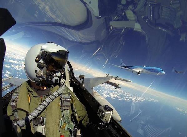 Mid-Flight Selfie