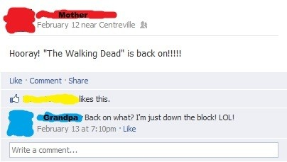 They don't watch The Walking Dead.`