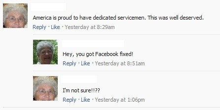 They don't actually know how to use Facebook.