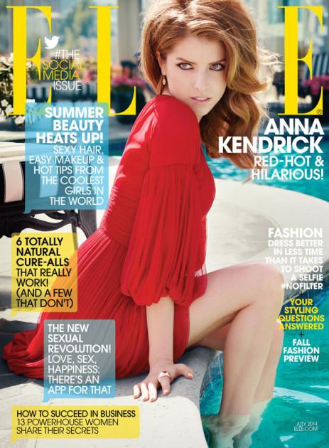 Anna Kendrick Elle Cover