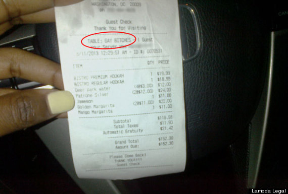 Gay Bitches Receipt