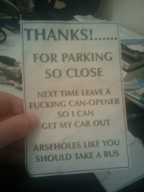 You Park Like a Jackass