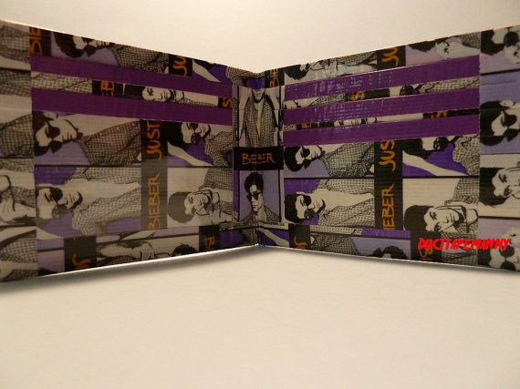 Justin Bieber Duct Tape Wallet