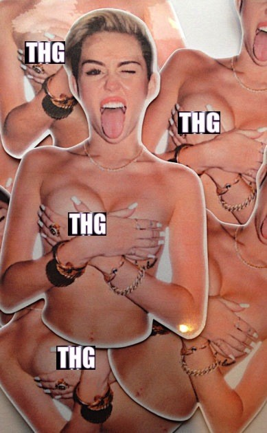 Miley Cyrus Nip Slip Stickers