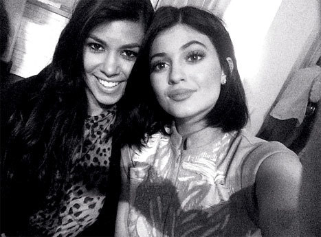 Kourtney and Kylie Photo