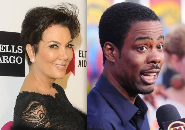 Kris Jenner and Chris Rock