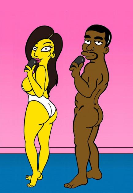 Kim and Kanye Naked