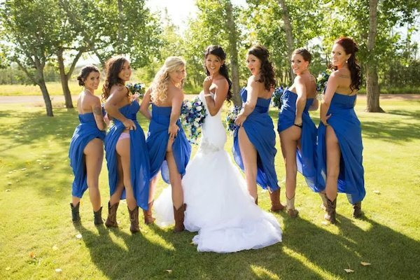 Flashing Bridal Party