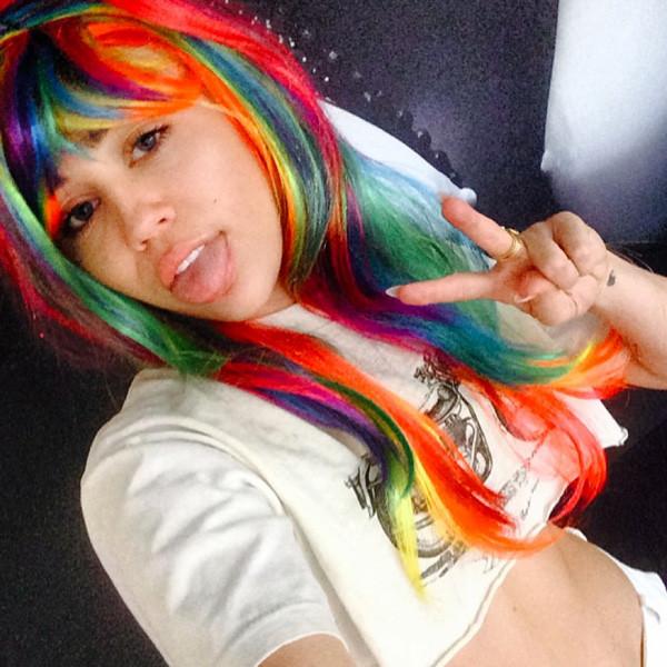 Miley Cyrus in a Wig