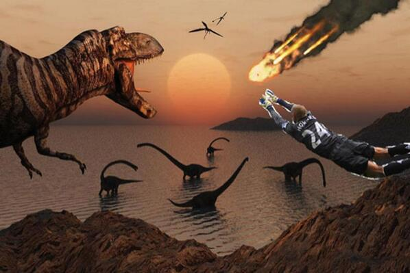 Tim Howard Saves The Dinosaurs!